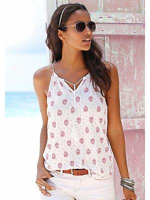 Top de plage s.Oliver RED LABEL Beachwear femme S.OLIVER RED LABEL blanc