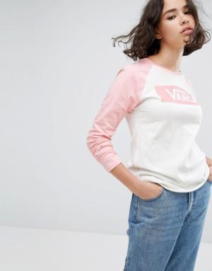 Vans Classic – T-shirt à manches raglan – Rose