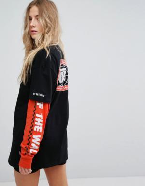 Vans – Sole – T-shirt manches courtes – Noir – Noir
