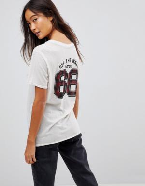 Vans – T-shirt de sport à carreaux – Blanc – Blanc