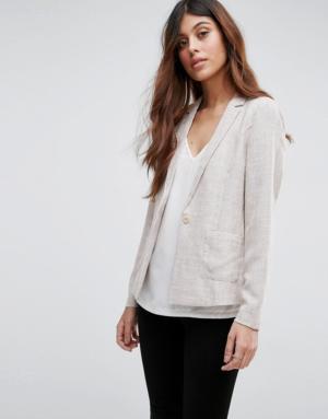 Vero Moda – Blazer texturé – Gris