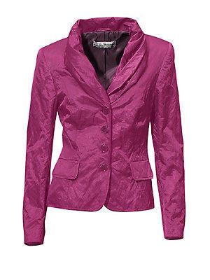 Veste blazer courte coupe cintrée à col châle femme Ashley Brooke violet