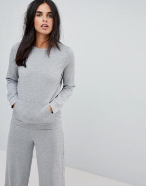 Vila – Sweat-shirt épuré – Gris