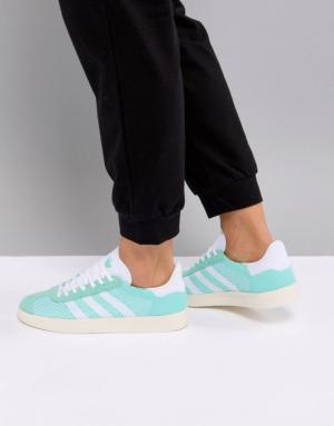 adidas – Gazelle Primeknit – Baskets – Vert