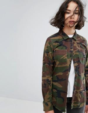 Vans – Chemise à imprimé camouflage – Vert