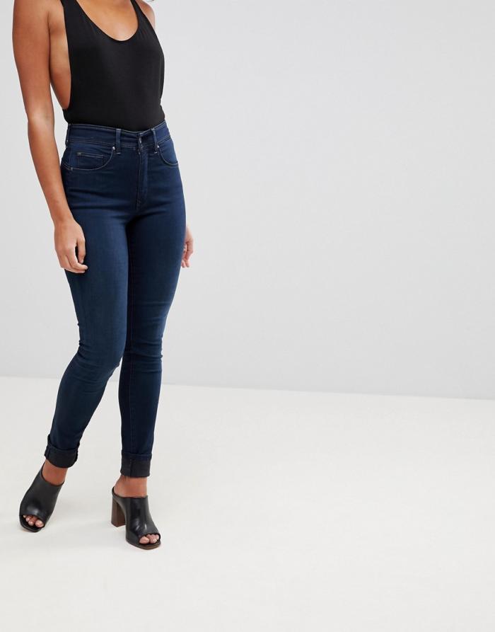 salsa glamour jean push up skinny taille mi haute bleu. Black Bedroom Furniture Sets. Home Design Ideas