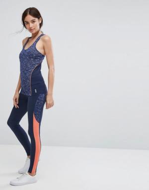Esprit – Legging de sport color block – Bleu