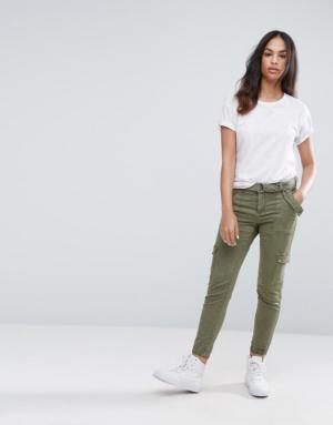 Esprit – Pantalon cargo – Vert