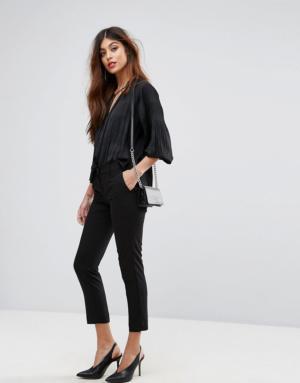 Sisley – Pantalon ajusté – Noir