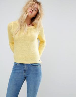 Only – Pull en maille – Jaune