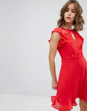 New Look – Robe à volants – Rouge