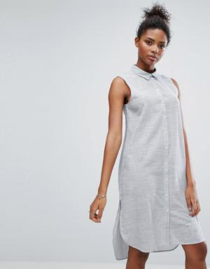 Only – Robe chemise à rayures – Multi
