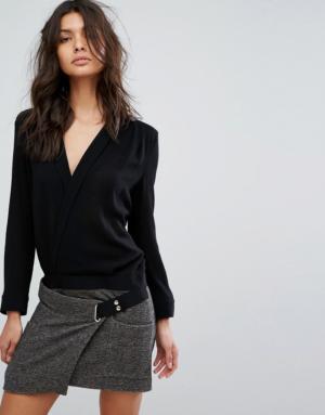 BA&SH – Robe avec haut et jupe contrastants – Crème