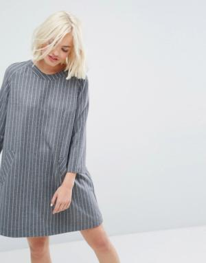 Paul & Joe Sister – Robe à fines rayures – Gris