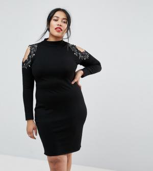 Coast Plus – Fallon – Robe en tricot – Noir