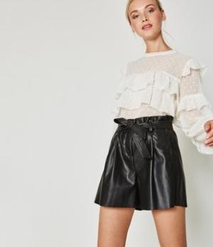 Short effet cuir Femme Promod