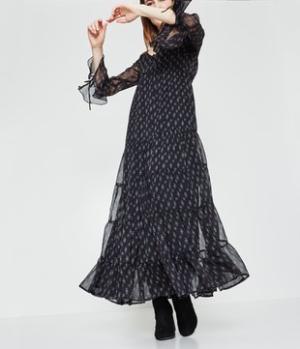 Longue robe imprimée Femme Promod