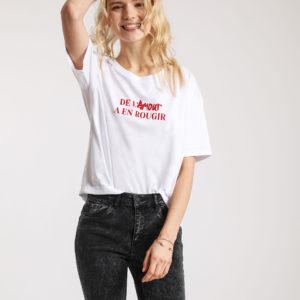 "T-shirt ""message Pimkie"
