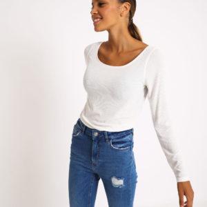 T-shirt basique Femme - Couleur blanc cassé Pimkie