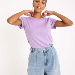T-shirt basique Femme - Couleur lilas Pimkie