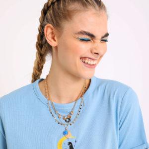 T-shirt court Femme - Couleur bleu turquoise Pimkie