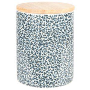 Bocal en porcelaine imprimée et bambou L12 Maisons du Monde