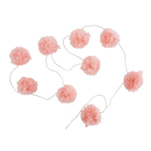 Guirlande lumineuse 9 LED pompons roses L214 Maisons du Monde