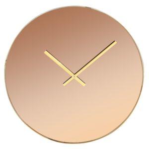 Horloge en verre miroir teinté ambre et métal  D45 Maisons du Monde