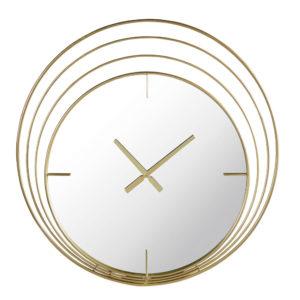 Horloge miroir anneaux en métal doré 89x91 Maisons du Monde