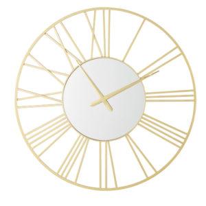 Horloge miroir en métal doré D92 Maisons du Monde