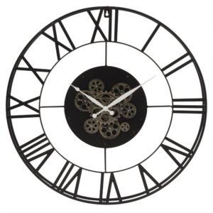 Horloge perpétuelle à rouages en métal noir D70 Maisons du Monde