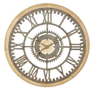 Horloge rouages en sapin et métal effet vieilli D100 Maisons du Monde
