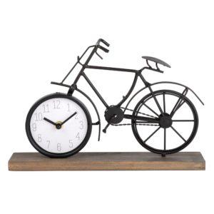 Horloge vélo en pin et métal noir 31x20 Maisons du Monde