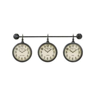 Horloges indus en métal effet vieilli (x3) 83x35 Maisons du Monde