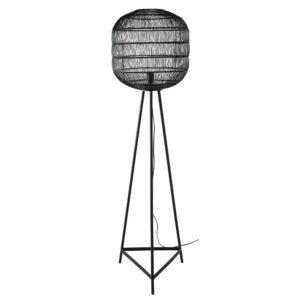 Lampadaire trépied en métal et abat-jour filaire noirs H150 Maisons du Monde