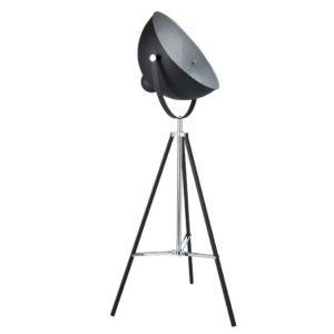 Lampadaire trépied en métal noir H 145 cm PHOTOGRAPHE Maisons du Monde