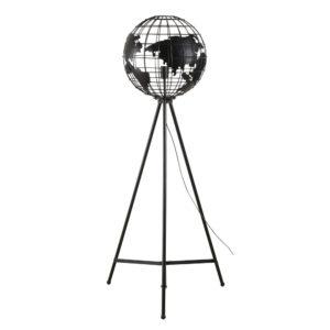 Lampadaire trépied globe terrestre filaire noir H150 Maisons du Monde