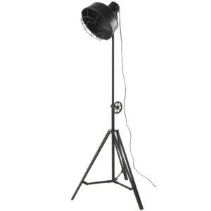 Lampadaire trépied projecteur en métal noir mat H168 Maisons du Monde