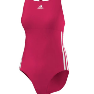 Maillot 1 pièce 3-stripes authentic Rose Adidas