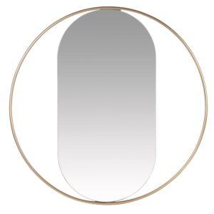 Miroir en métal doré D60 Maisons du Monde