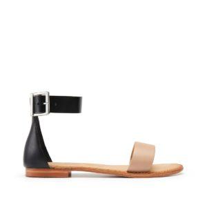 Sandales cuir Elsa Noir/Nude Vero Moda