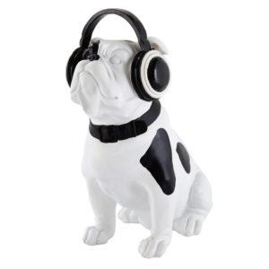 Statuette chien noir et blanc H33 Maisons du Monde