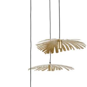 Suspension triple feuilles de palmier en métal doré Maisons du Monde
