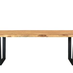 Table à manger 8/10 personnes en acacia et métal L240 Hisa Maisons du Monde