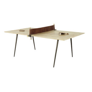 Table à manger 8/10 personnes en manguier et métal L207 Pong Maisons du Monde
