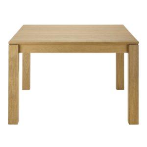 Table à manger carrée extensible 4 à 8 personnes en chêne L120/180 Danube Maisons du Monde