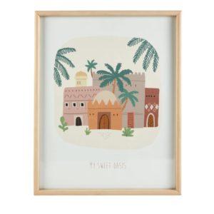Tableau imprimé oasis multicolore 40x50 Maisons du Monde