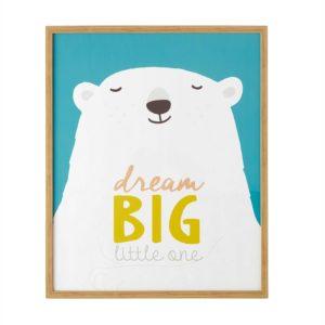 Tableau ours polaire 62x72 Maisons du Monde