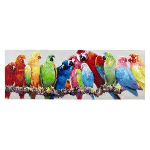 Toile perroquets multicolores 70x200 Maisons du Monde