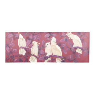 Toile rouge imprimé cacatoès 200x70 Maisons du Monde